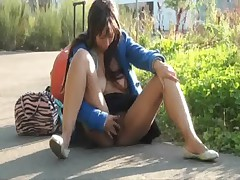 Ebony Teens Masturbating Nude In Public