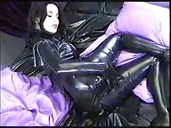 Dita. Masturbation in latex 2