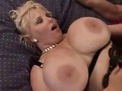 Two curvy mature ladies for one young guy