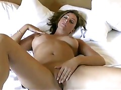 Amateur wife playing with her pussy