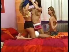 Beautiful Lesbian Teen Threesome