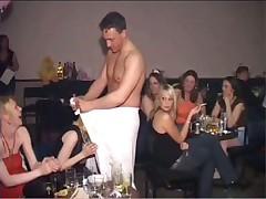 Stupid girls sucking cocks at hen party