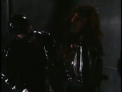 Latex Mistress Beats Her Sobbing Slave