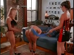 Threesome Strap On action