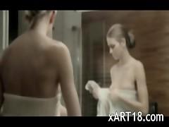 horny shower masturbation