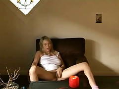 Sexy Teen Wanking To Porn
