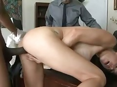 McKenzie Lees hot acion in the office