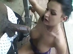 White Bitch Facefucked by a BBC