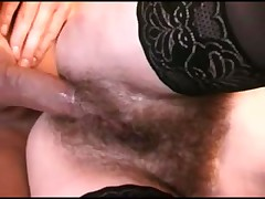 Hairy italian mature gets straight and anal