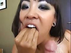 Attractive asian cock sucker