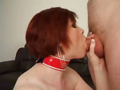British busty MILF gives a great blowjob
