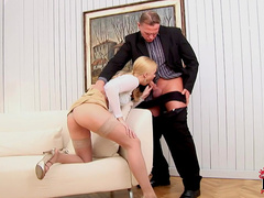 Seductive beauty Misty Mild and cock in her mouth