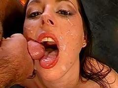 Alina swallows load by load
