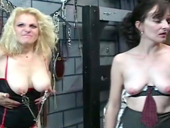 Matures in the dungeon have kinky sex