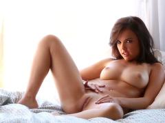 Babe brunette Dillion Harper poses in lingerie