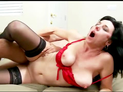 Shaved milf in special hardcore