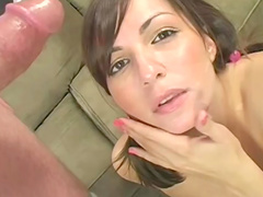 Horny Melanie Scott is riding on the big long shaft with pleasure