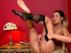 Kety Pearl is posing in her truly sexy stockings