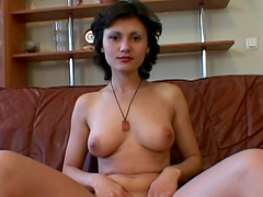 Daria S shows off her small pink pussy