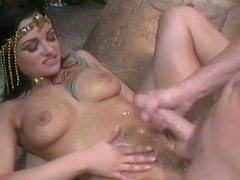Belladonna being fucked by Brian Surewood in the cave