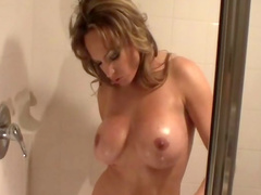 Mom shows her boobies on the camera