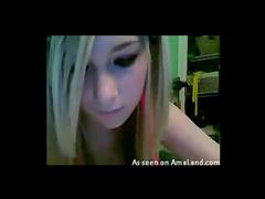 Finger fucking blonde webcam amateur