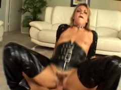 MILF blonde is getting cum on her face
