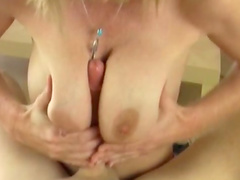 Spicy blonde gives a nice POV blowjob