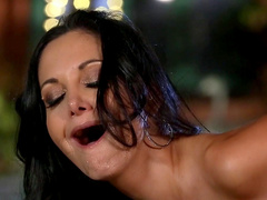 Amazing Ava Addams plays wild by the pool