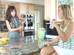 Ally Kay and Ariella Ferrera in a hot ffm