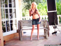 Curly beauty Jana Cova poses like a pro