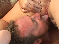 Awesome brunette was fucked in her face