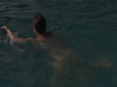 sexy chick masturbation in the pool