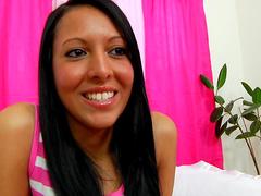 Dark-haired one Nadia Noel pokes her innocent vag
