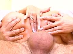 MILF blonde is getting dick in anal