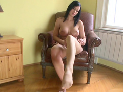 Skinny brunette Abbie Cat and Christoph Clark