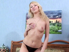 Warm fingering for Stacy's tight vag