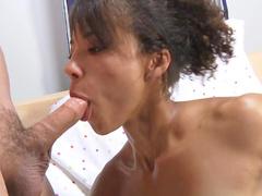 Ebony Holly Dee fuck with white cock