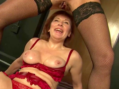 Faye Rampton is sucking nipples of Wendy Taylor
