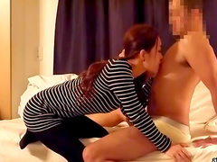 Asian amateur wearing red lingerie gets her pussy licked