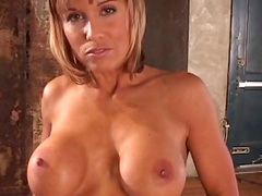 Sweet milf blonde Kath shows off her thin figure