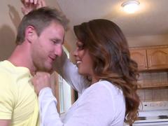 Hardcore brunette Jordan fucks with husband