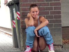 Outdoor compilation with girls pissing