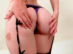 Sweet redhead beauty Jodi Taylor is playing with her tight snatch