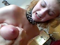 Sub titties suffer pain in BDSM