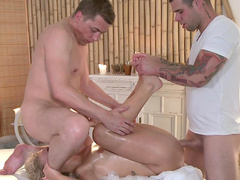 Angel is banging with her masseurs