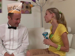 Jack Lawrence fucks face of young Nicole Ray