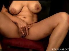 Gloryhole slut sucking off a cock