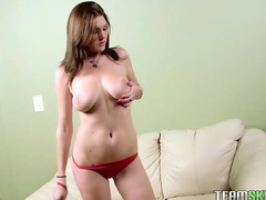 Busty finger fucking solo chick