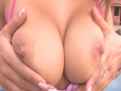 Tania Spice is touching her sweet nipples